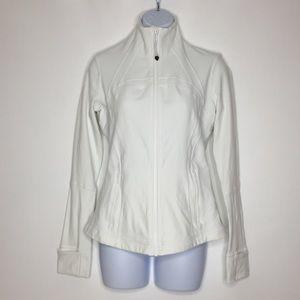 LULULEMON White Front Zip Jacket 8